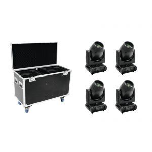 FUTURELIGHT Set 4x DMB-160 LED Moving-Head + Case