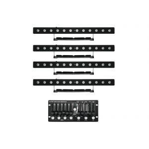 Set bare leduri 4x Eurolite LED PIX-12 HCL + controler