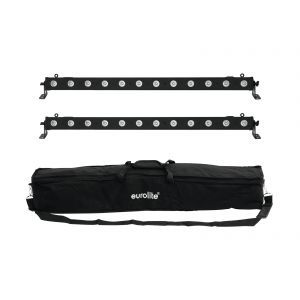 Set bare de leduri 2x Eurolite LED BAR-12 QCL RGBA + husa