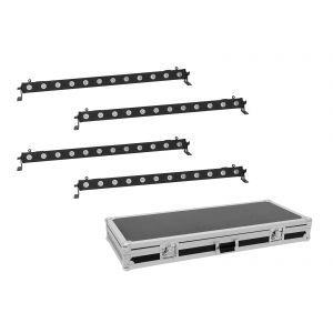 Set bare de leduri 4x Eurolite LED BAR-12 QCL RGBA + Case