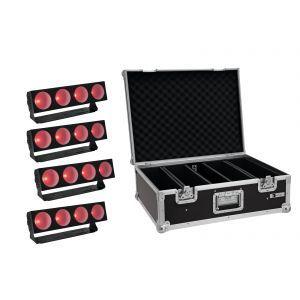 Set bare de leduri 4x Eurolite LED CBB-4 COB RGB + Case
