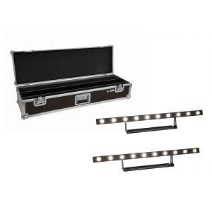 Set bare de leduri 2x Eurolite LED STP-10 Sunbar 3200K 10x5W + Case