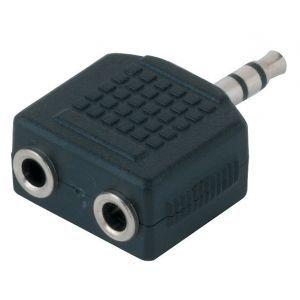 Adaptor 2x Jack 3.5mm Stereo la Jack 3.5mm Stereo Alpha Audio