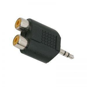 Adaptor SAL audio mufa stereo 3.5 mm - 2x prize RCA 3.5 mm