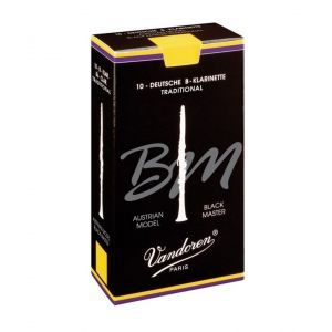 Ancie clarinet Vandoren Bb Allemand Black Master Traditional 3.0 CR183T