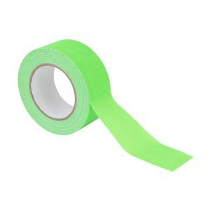 Banda Gaffa 50mm x 25m neon-verde UV-activ