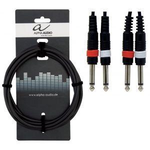 Cablu Alpha Audio 2 X 3.6mm Jack Mono-2 X 6.3mm Jack Mono 6m