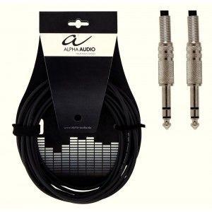Cablu instrument Alpha Audio Stereo Jack 6.3 - Jack 6.3 3M