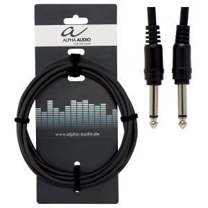 Cablu Patch Alpha Audio 1 x 6.3mm Jack Mono-1 x 6.3mm Jack Mono 0.1m