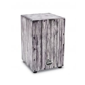 Cajon Latin Percussion Aspire Accents White Streak