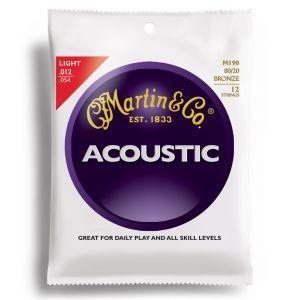 Corzi chitara acustica 12 corzi Martin & Co M 190
