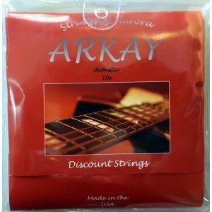 Corzi chitara acustica Aurora Arkay Acoustic 10s Black
