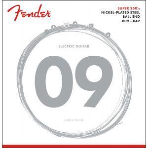 Corzi Chitara Electrica Fender Super 250L Nickel Plated Steel Ball End 9-42