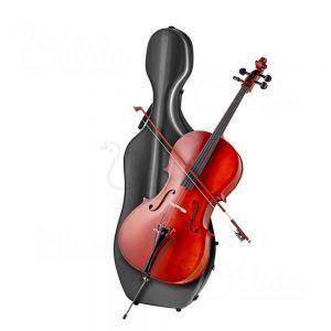 Cutie carbon violoncel Valida V500C Black