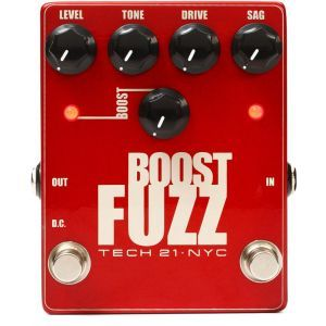 Pedala efect chitara Tech 21 Boost Fuzz Metalic