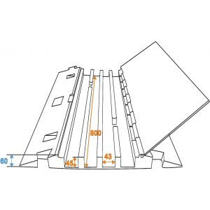 Pod pentru cabluri Eurolite Cablebridge 4 Channels 800mm x 550mm