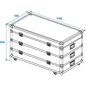Set bare de leduri 12x Eurolite LED BAR-12 QCL RGBA + Case