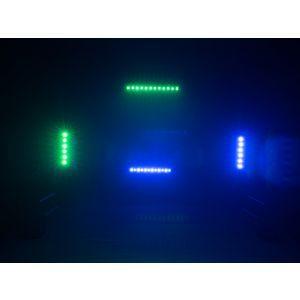 Set bare de leduri 2x Eurolite LED BAR-12 QCL RGBW + husa