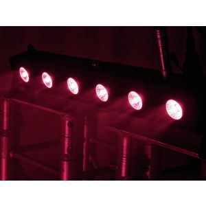 Set bare de leduri 2x Eurolite LED BAR-6 QCL RGBA + husa