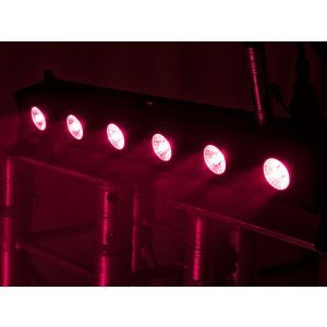 Set bare de leduri 2x Eurolite LED BAR-6 QCL RGB+UV Bar + husa