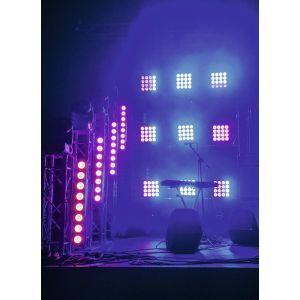 Set bare de leduri 4x Eurolite LED PMB-8 COB RGB + case