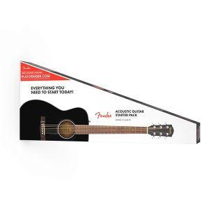 Set Chitara Acustica Fender CC 60S Black Concert