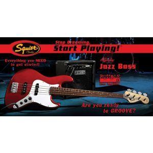 Set Chitara Bass Squier Affinity Jazz Bass, Fender Rumble 15