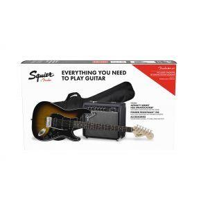 Set Chitara Electrica Squier Affinity Strat HSS Brown Sunburst cu Fender Frontman 15G