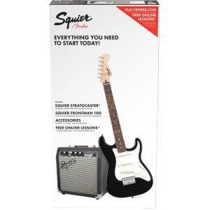 Set Chitara Electrica Squier Affinity Strat Short Scale Black cu Fender Frontman 10G