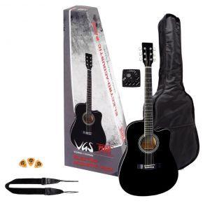 Set chitara electroacustica VGS BK