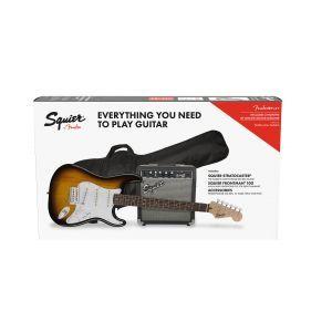 Set Chitara Squier Stratocaster cu Frontman 10G