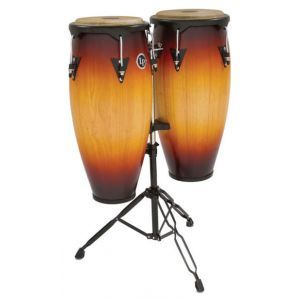 Set Conga LP Percussion City Series Dark Wood