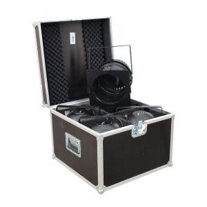 Set lumini EUROLITE Set 4x LED PAR-64 HCL 12x10W sw + Rack