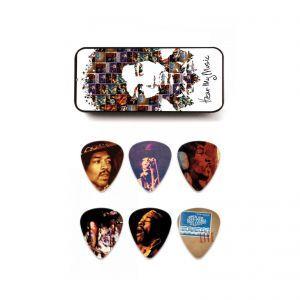 Set Pene Chitara Dunlop Jimi Hendrix Pick Tin JHPT07M