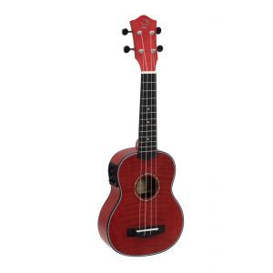Ukulele Sopran Dimavery UK 100 Flamed Red
